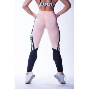 Nebbia high waist mesh leggings salmon