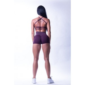 Nebbia high waist  shorts burgundy